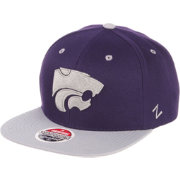 Zephyr Men's Kansas State Wildcats Purple/Grey Script Adjustable Snapback Hat
