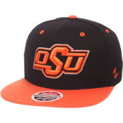Zephyr Men's Oklahoma State Cowboys Black/Orange Script Adjustable Snapback Hat