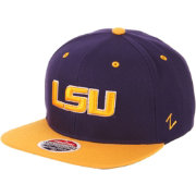 Zephyr Men's LSU Tigers Purple/Gold Script Adjustable Snapback Hat