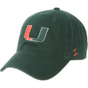 Zephyr Men's Miami Hurricanes Green Scholarship Adjustable Hat