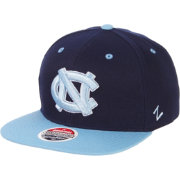 Zephyr Men's North Carolina Tar Heels Navy/Carolina Blue Script Adjustable Snapback Hat