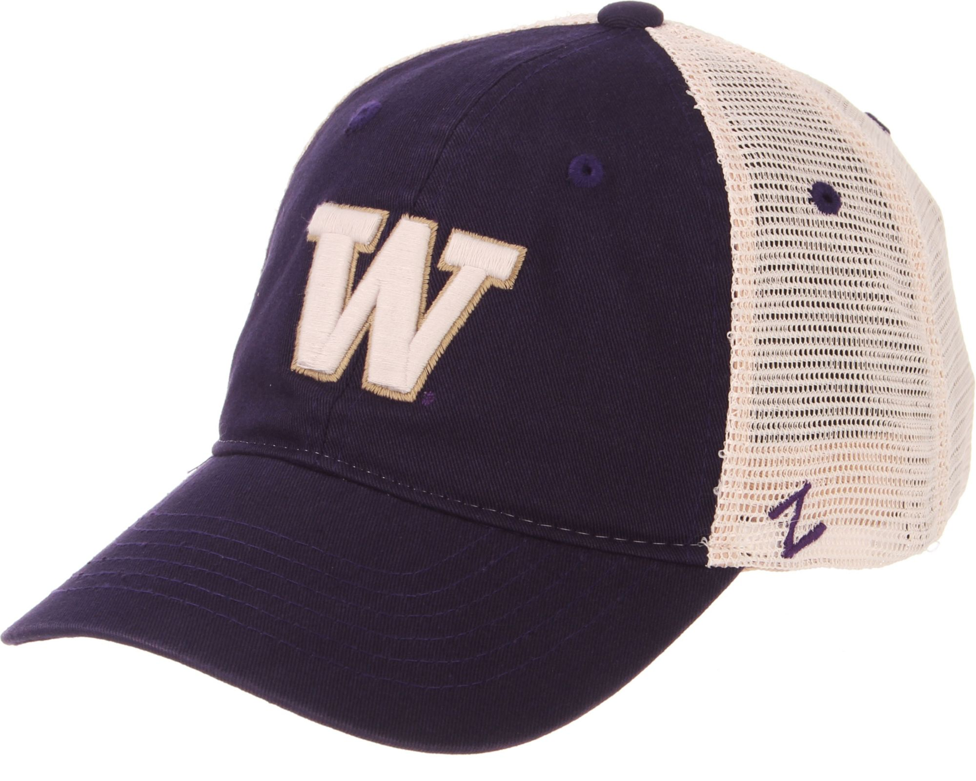 new arrival e8a10 c1352 ... real zephyr mens washington huskies purple cream trucker logo snapback  hat 2011c 0534d