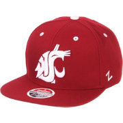 Zephyr Men's Washington State Cougars Crimson Script Adjustable Snapback Hat