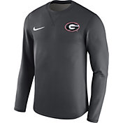 Nike Men's Georgia Bulldogs Anthracite Modern Football Sideline Crew Long Sleeve Shirt