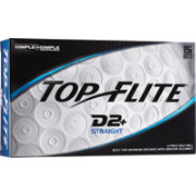 Top Flite D2+ Straight Golf Balls - 15-Pack - Prior Generation - Prior Generation
