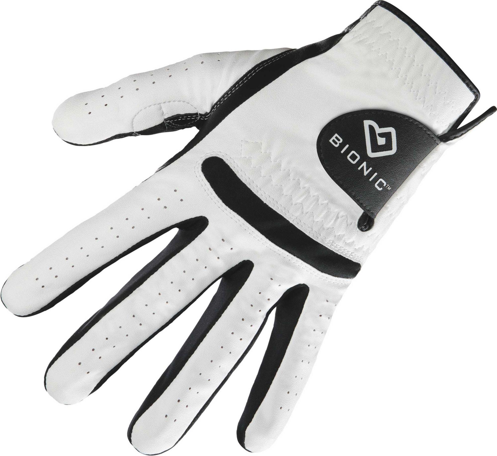 Black leather golf gloves - Product Image Bionic Men S Relaxgrip Black Palm Golf Glove