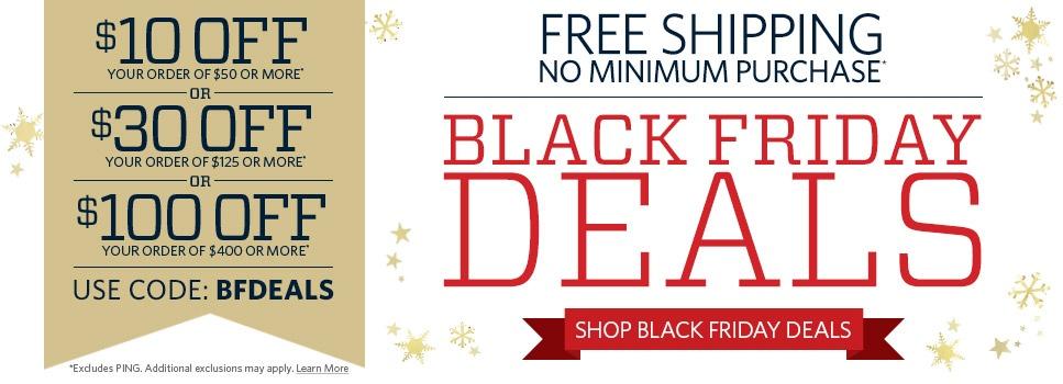 Golf Galaxy Black Friday Sale: $10 Off $50+ Order