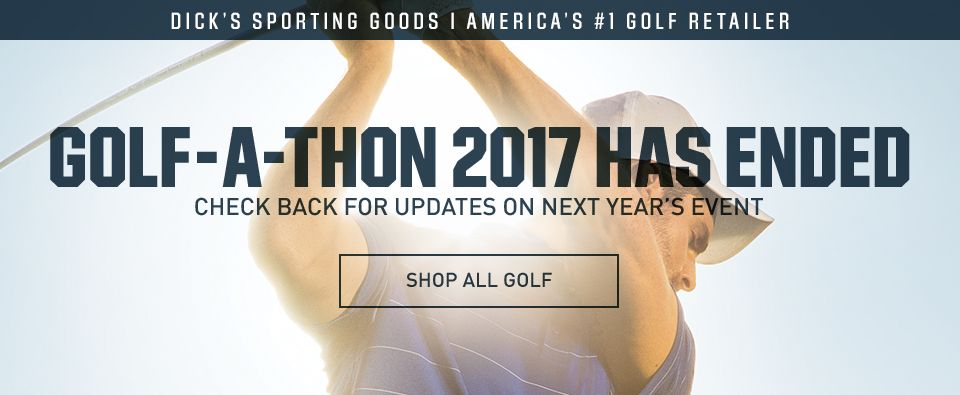 Golf-A-Thon 2017 Has Ended. Please Check Back For Updates on Next Year's Event. | Shop All Golf