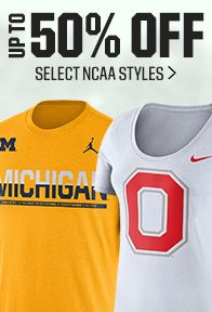 Save up to 50% on Select NCAA Styles
