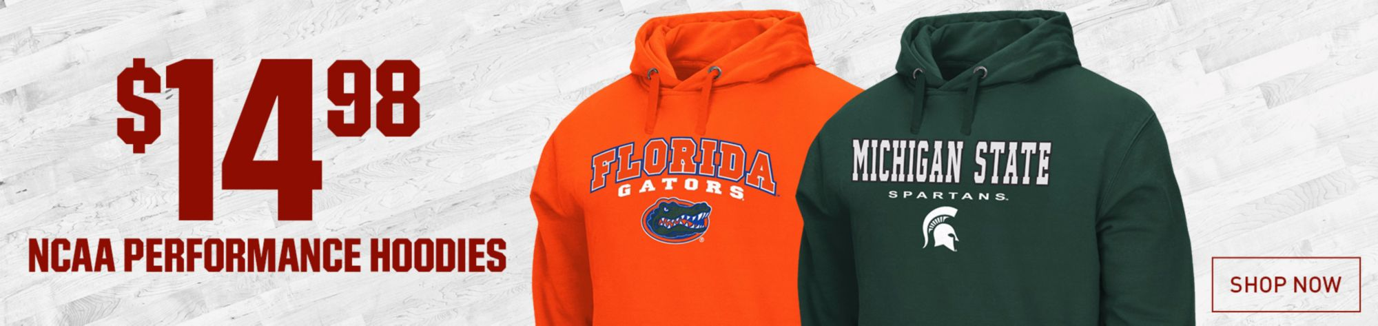 $14.98 NCAA Performance Hoodies