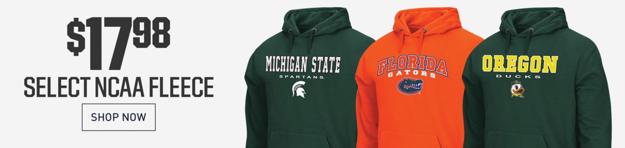 $17.98 NCAA Performance Hoodies