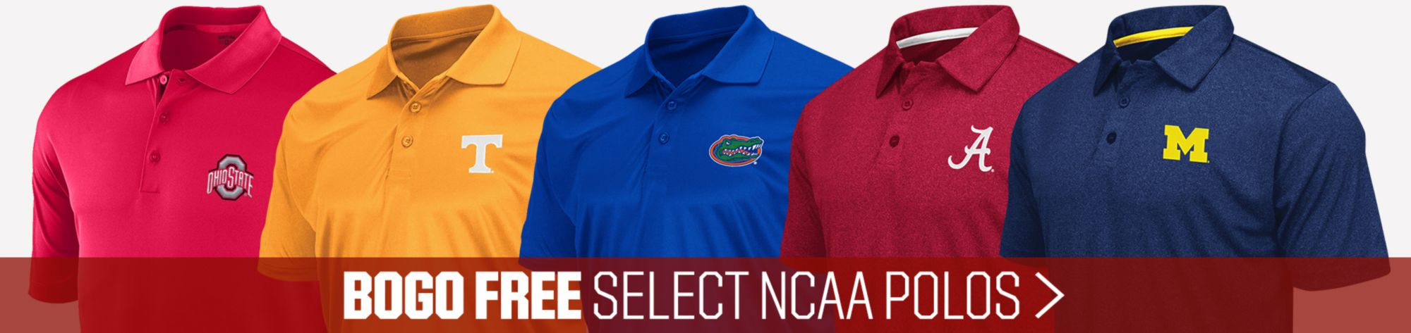 BOGO on Select NCAA Polos