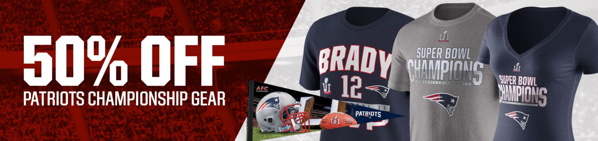 50% Off Select Patriots Champ Gear