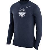 Nike Men's UConn Huskies Blue March Basketball Performance Long Sleeve Shirt