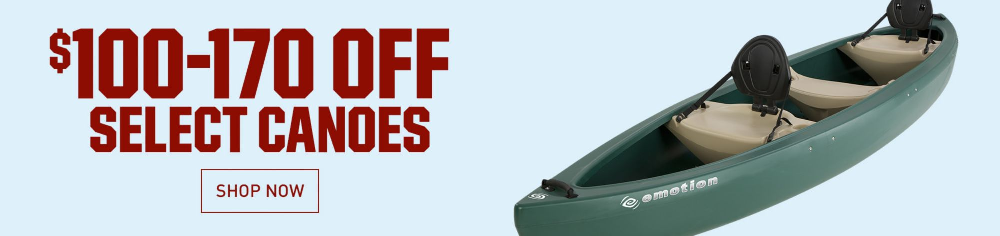 Up To 170 Dollars Off Canoes