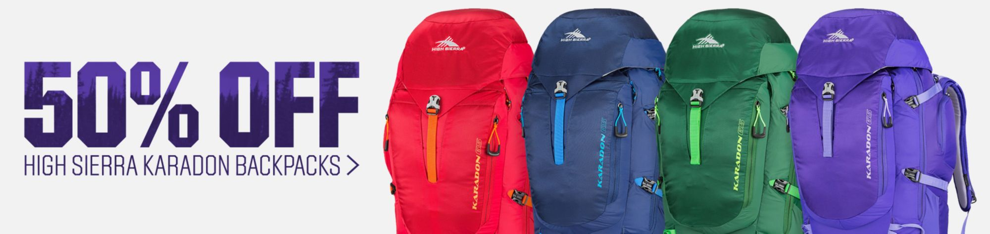 50% Off High Sierra Karadon Backpacks
