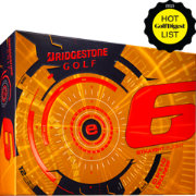 Bridgestone e6 Straight Flight Orange Personalized Golf Balls