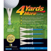 "GreenKeepers 3.25"" 4 More Yards Golf Tees – 4-Pack"