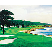 Golf Gifts & Gallery Pebble Beach 18th Hole Canvas Photo