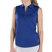 Jofit Women's Jacquard Performance Sleeveless Golf Polo