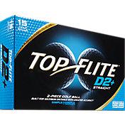 Top Flite D2+ Straight Golf Balls – 15-Pack