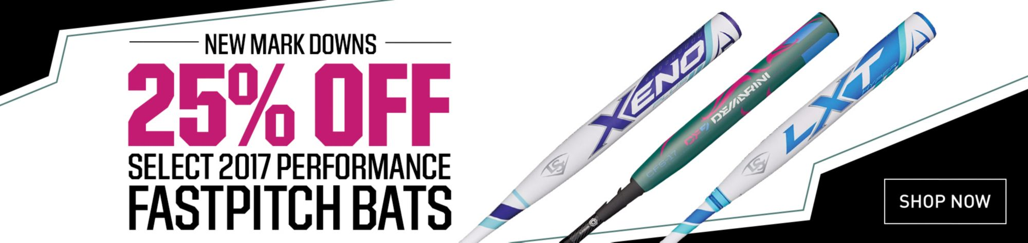25% Off Select 2017 Performance Fastpitch Bats
