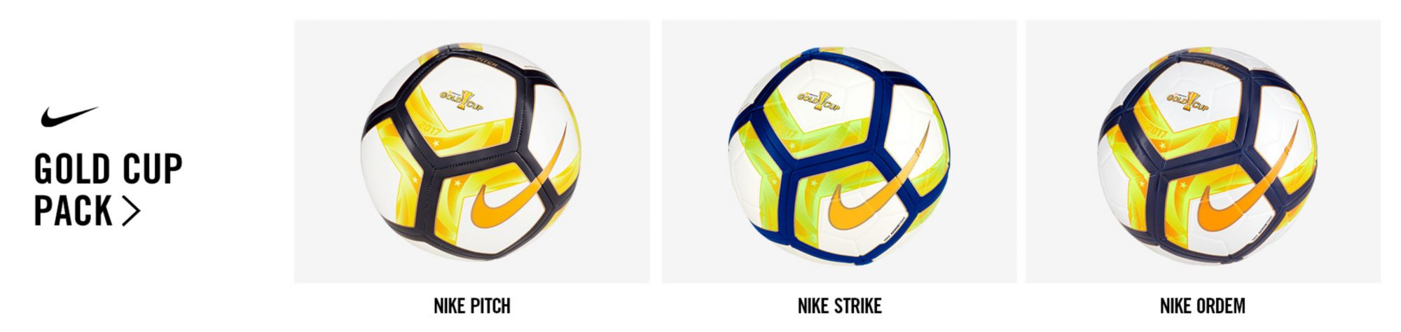 Nike Gold Cup 2017 Soccer Balls