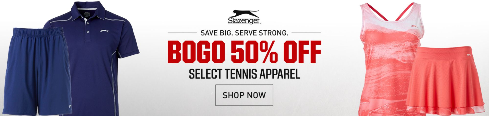 BOGO 50% Off Slazenger Tennis Apparel
