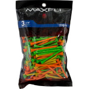 Maxfli 3.25'' Fluorescent Golf Tees – 200-Pack