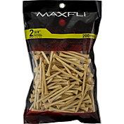 "Maxfli 2.75"" Natural Golf Tees – 200-Pack"