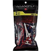 Maxfli 2.75'' Multi-Colored Golf Tees – 100-Pack