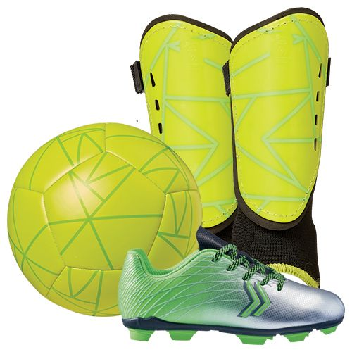DSG Youth Soccer Shin Guard Starter Kit - Green