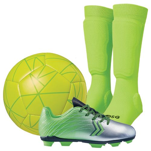 DSG Youth Soccer Shin Sock Starter Kit - Green