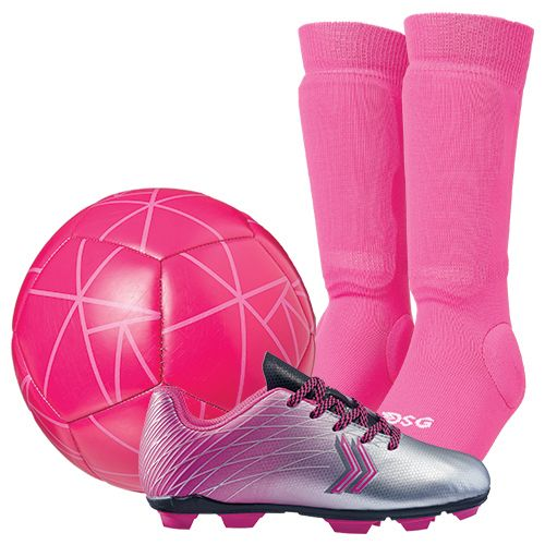DSG Youth Shin Soccer Sock Starter Kit - Pink