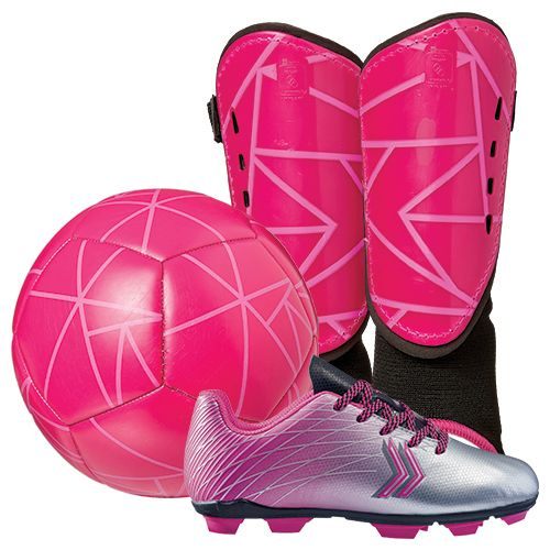 DSG Youth Soccer Shin Guard Starter Kit - Pink