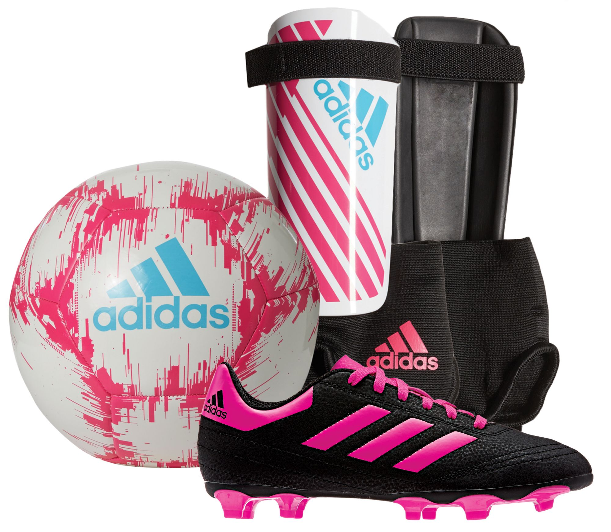 adidas Youth Soccer Starter Kit -White Pink