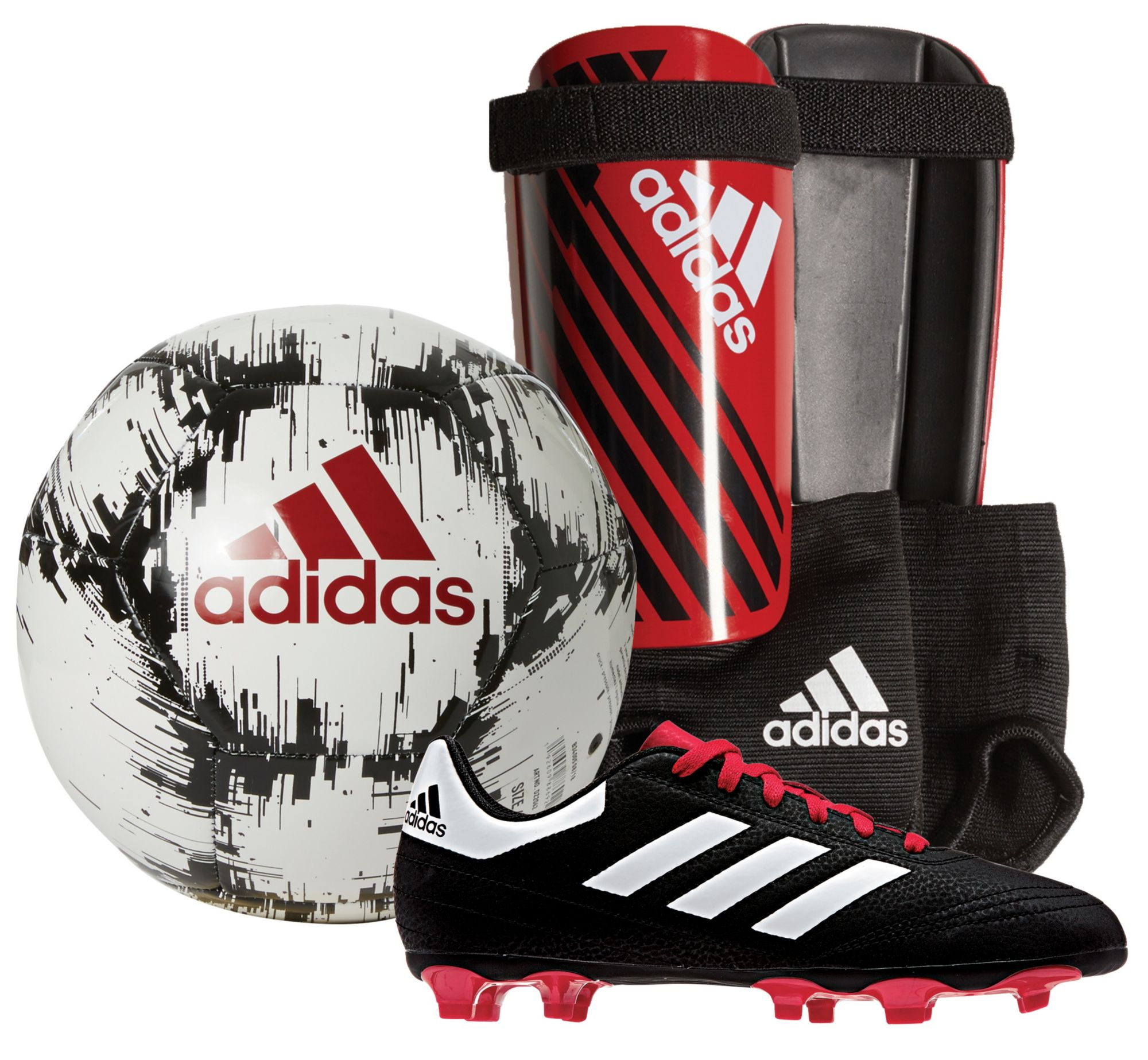 adidas Youth Soccer Starter Kit - Red Black