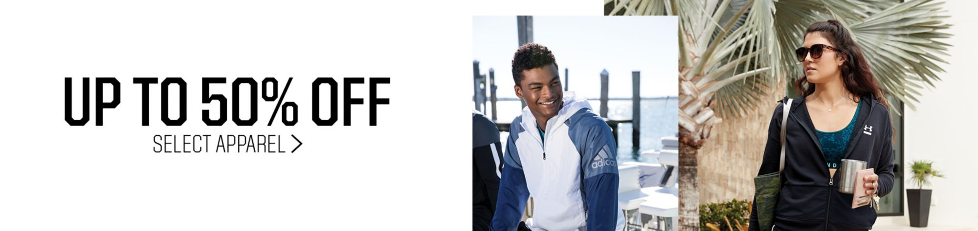 Up to 50% Off Select Apparel