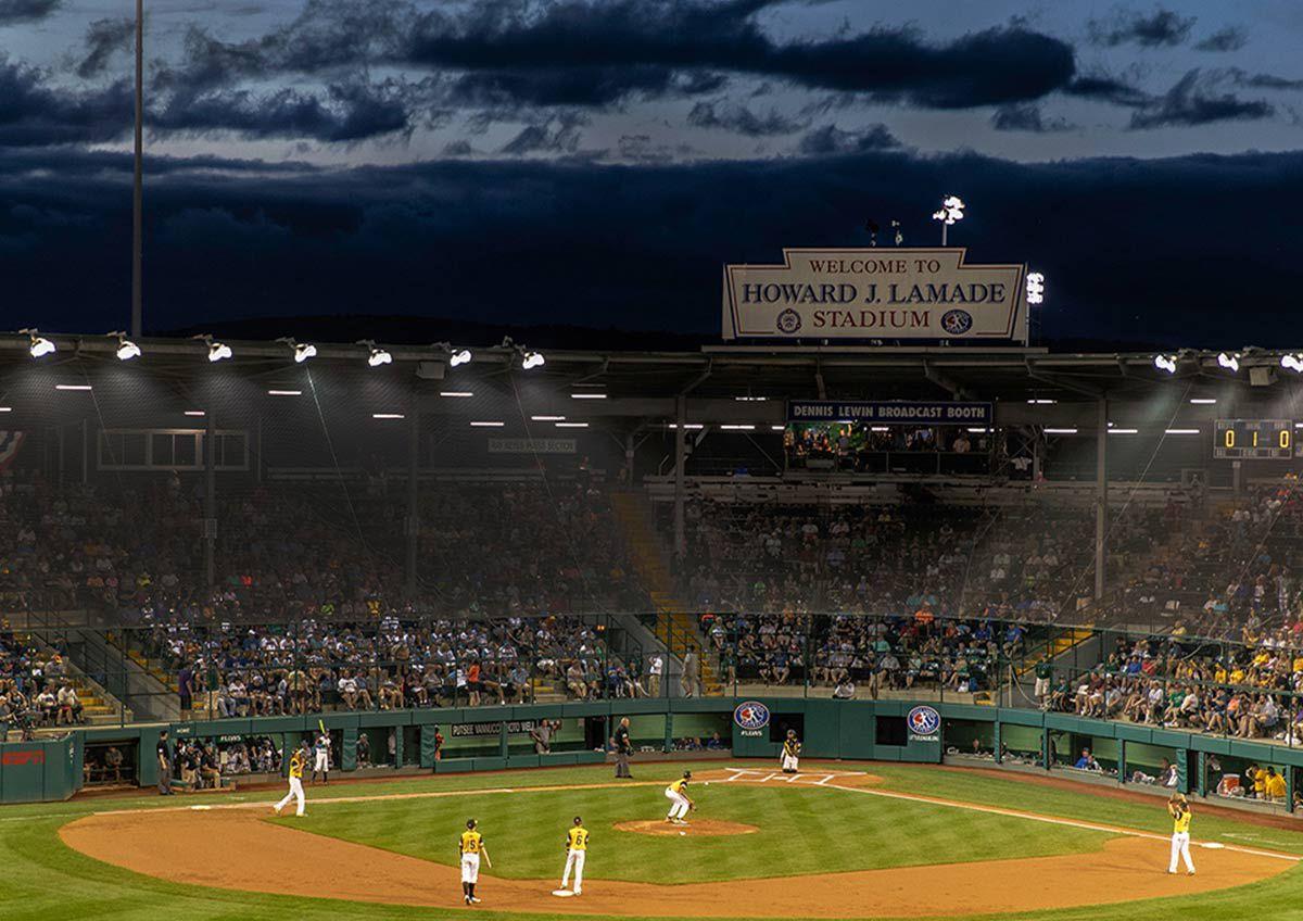 Congrats Little League World Series Champs with image of Little League World Series Stadiu