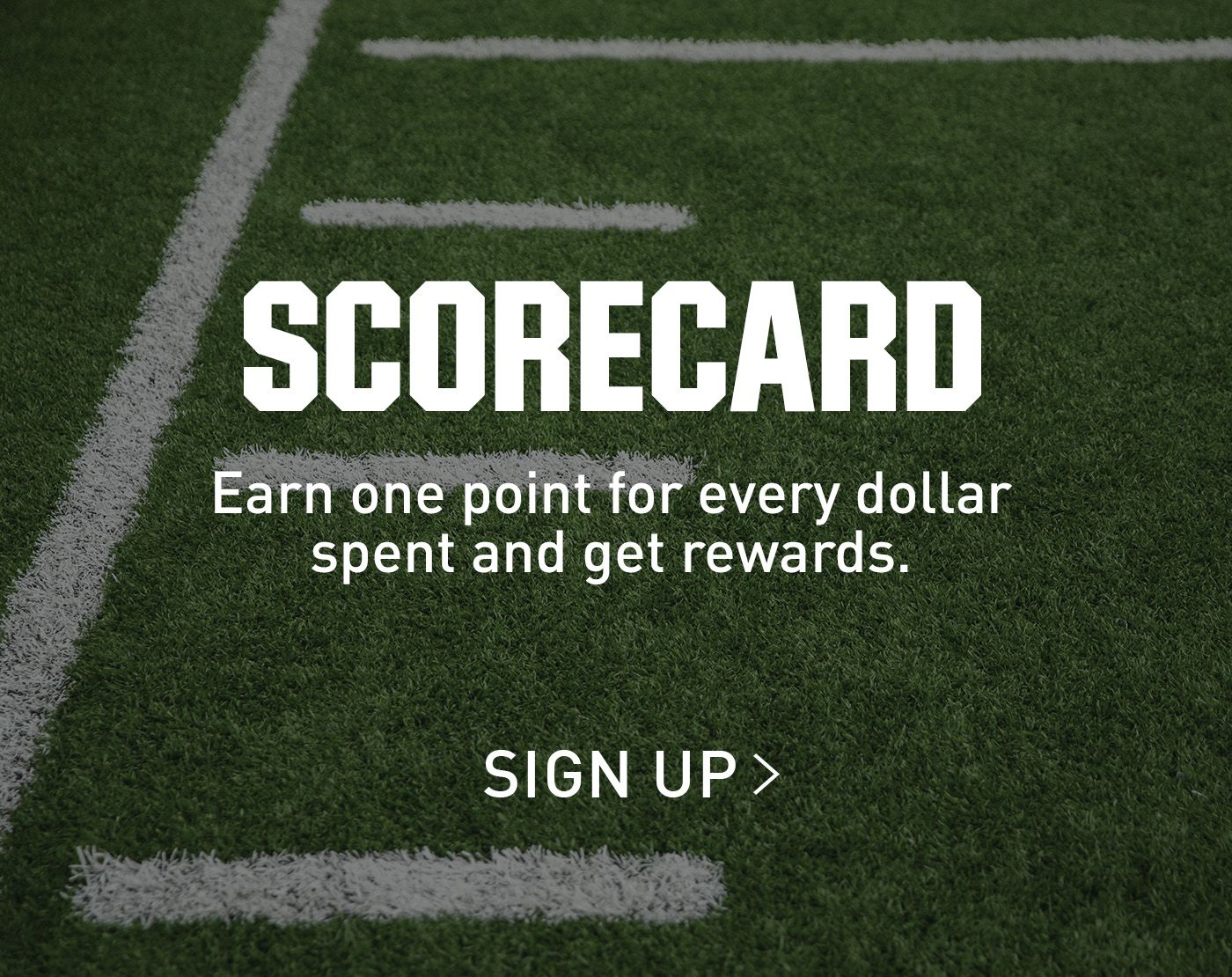 Earn one point for every dollar spent and get rewards