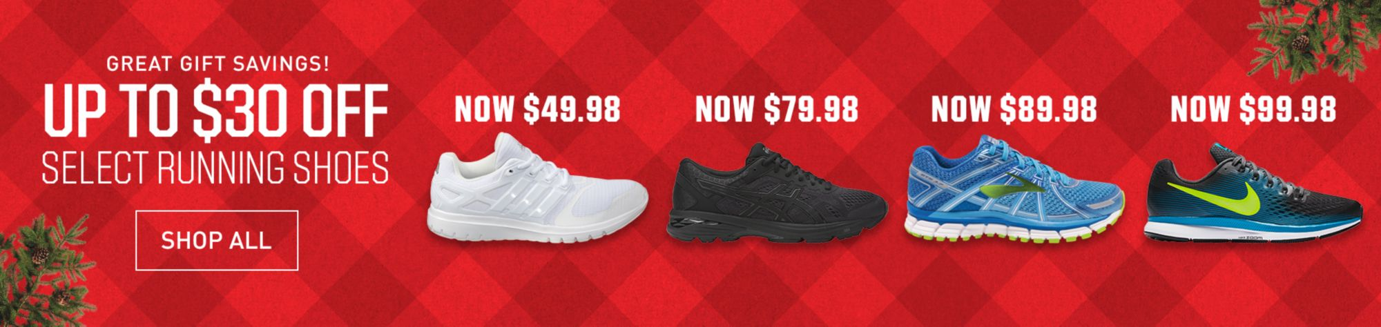 up to 30 off select running shoes shop all