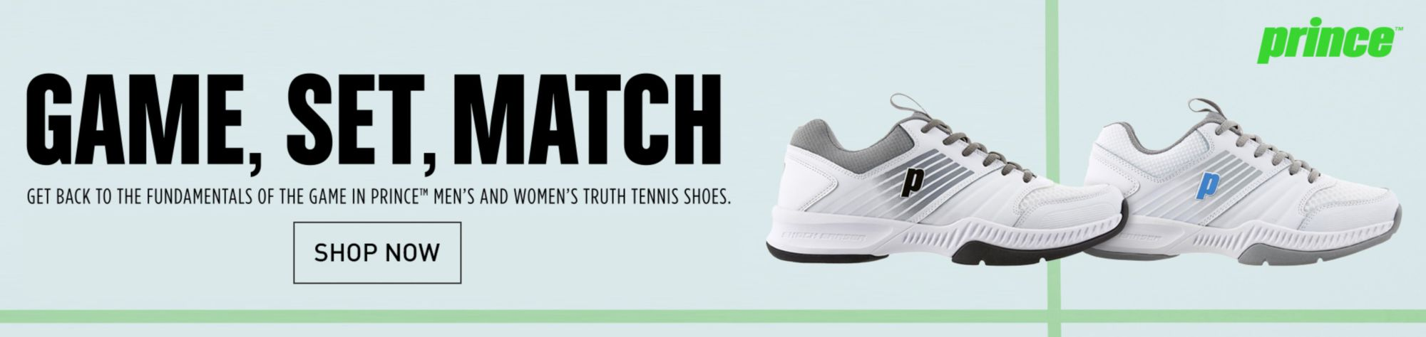 Game, Set, Match. Prince Truth Tennis Shoes