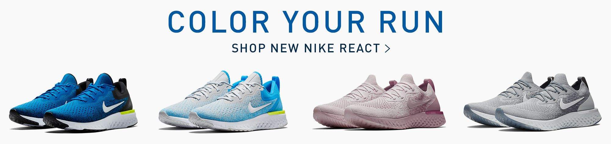 Color Your Run Shop New Nike React