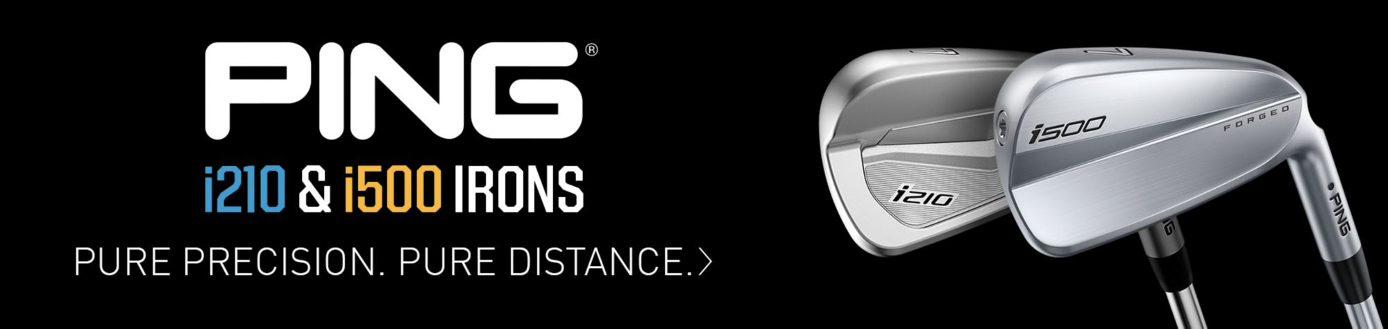 i210 and i500 Irons from PING Shop Now