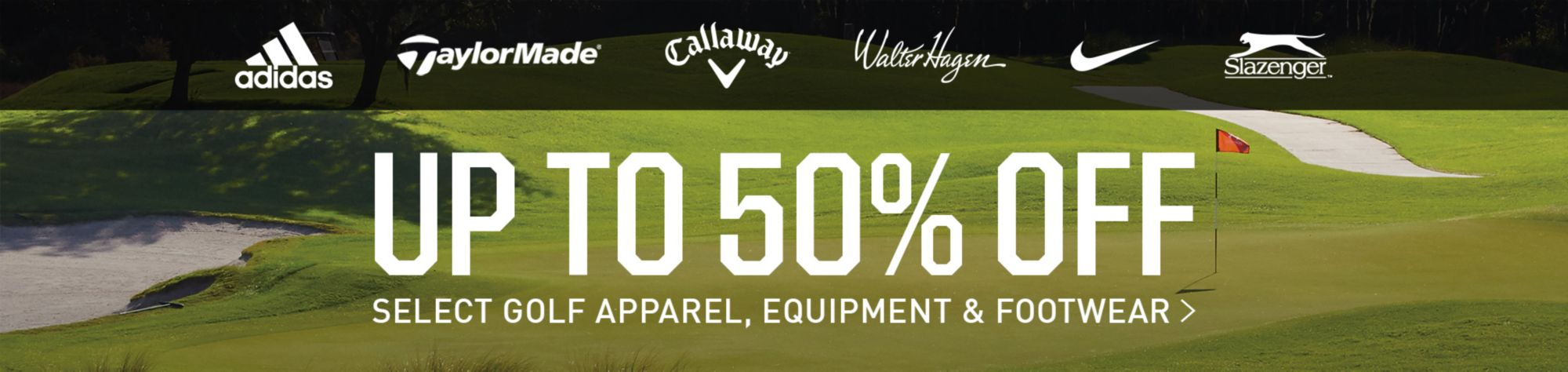 Up to 50% Off Select Golf Apparel, Equipment, and Footwear