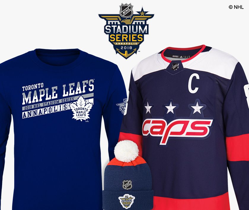 Shop Capitals and Maple Leafs Stadium Series Gear