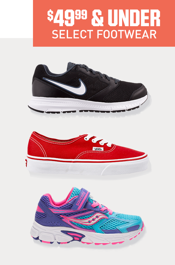 Shop Footwear 49.99 and Under