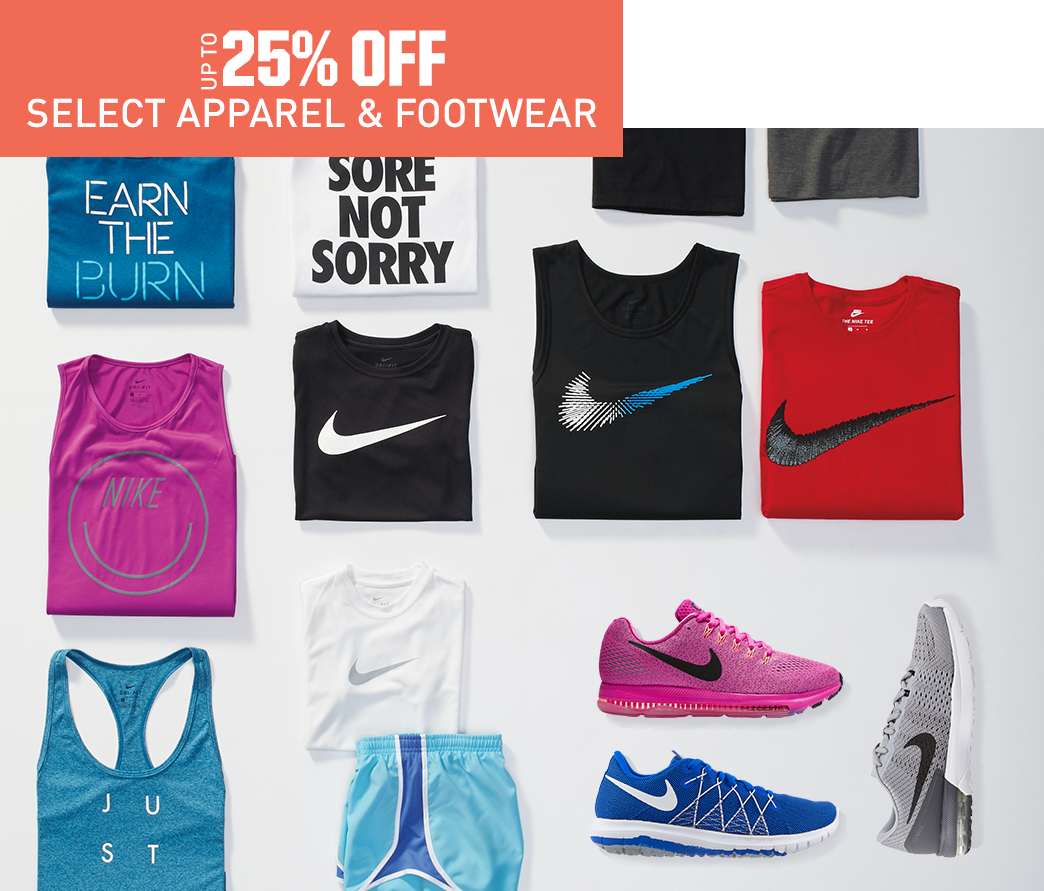 Shop Nike Apparel and Footwear