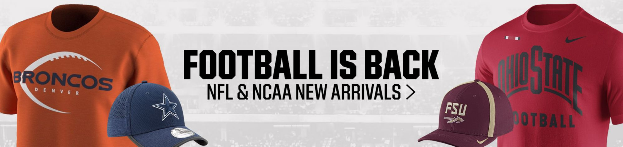 NFL and NCAA New Arrivals
