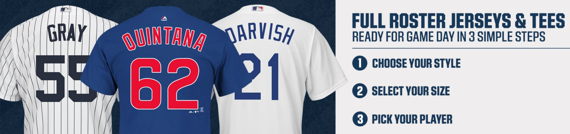 MLB Full Roster Jerseys & Tees